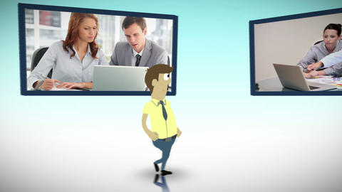 Videos of business in an office Animation