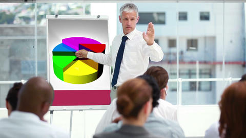 Businessman in a meeting Animation
