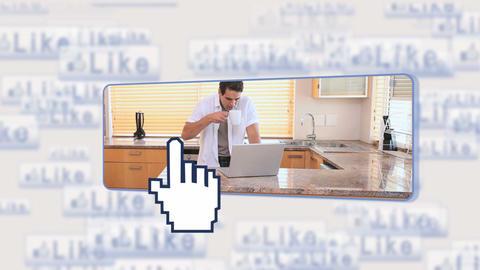 Man using social media Animation