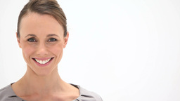 Smiling woman looking at camera Stock Video Footage