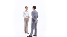 Business people speaking Footage