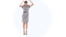 Joyful business woman dancing Footage