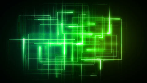 Green lines forming geometrical shapes Stock Video Footage