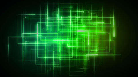 Green lines forming geometrical shapes Animation