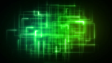 Green lines forming geometrical shapes, Stock Animation
