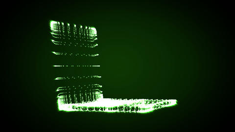Video of a shape of a green lighting laptop Stock Video Footage