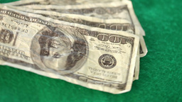 Dollar bills spinning Stock Video Footage