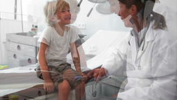 Doctor testing reaction of a child leg Footage