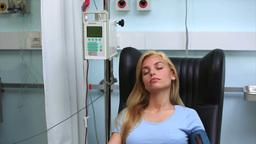 Transfused patient asleep Footage