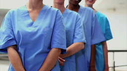 Female nurses looking at camera Stock Video Footage