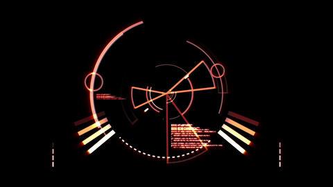 Orange radar screen Animation