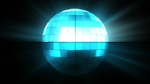 Blue disco ball Stock Video Footage