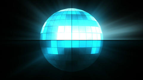 Blue disco ball Animation