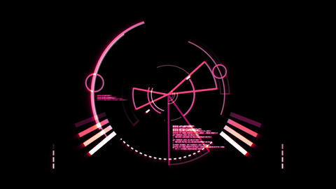 Pink radar screen Animation