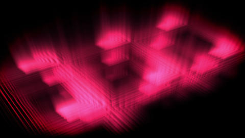 Pink glow forming a square Animation
