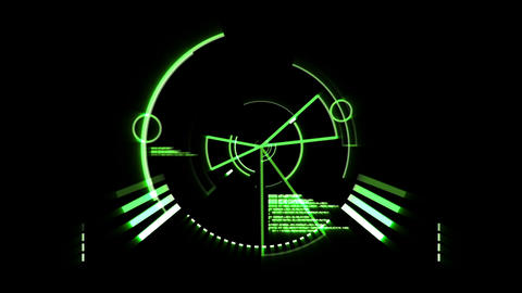Green Radar Screen stock footage
