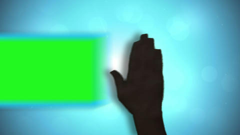 Black hands moving copyspace on blue background Animation