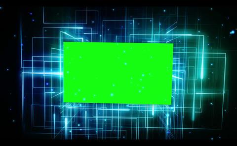 Chroma key on galactic background Stock Video Footage