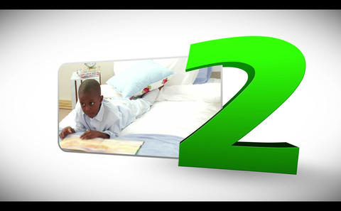 Animated numeration of children doing various acti Animation