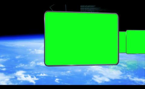 Chroma keys on earth background Animation