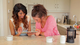 Women using tablet pc Stock Video Footage