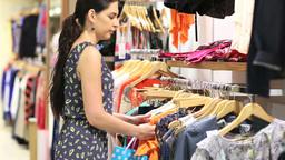 Woman shoplifing Footage