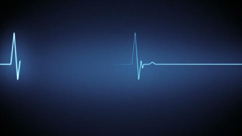 Blue Heart Monitor Line stock footage