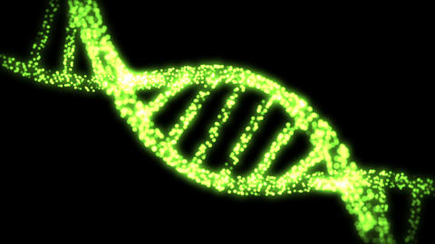 Appearing and dissapearing DNA helix Stock Video Footage
