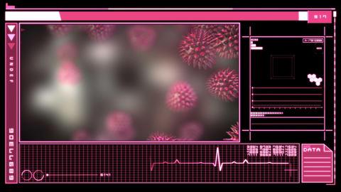 Medical digital interface showing virus Animation