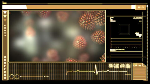 Digital interface showing virus Animation