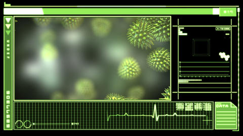 Digital interface showing virus Stock Video Footage