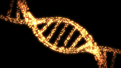 Appearing and dissapearing DNA helix Animation