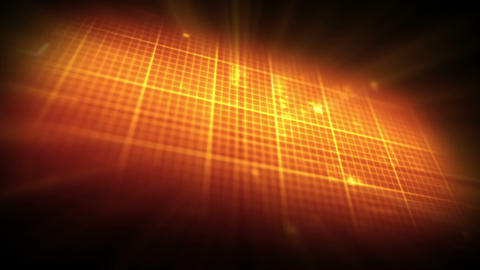 Orange ECG on grid background Animation