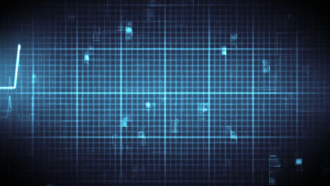 Blue ECG on moving digital background Stock Video Footage