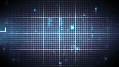 Blue ECG on moving digital background Animation