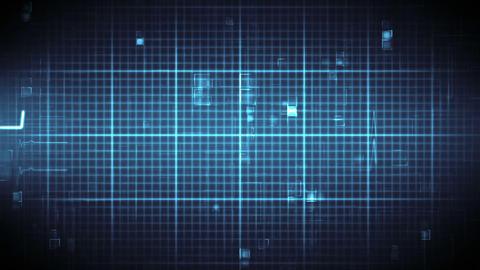 Blue ECG on moving digital background Animation