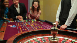 Man winning at roulette Footage