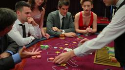 People playing blackjack Footage
