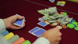 Dealer dealing cards for poker Footage