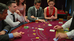 People playing poker Stock Video Footage