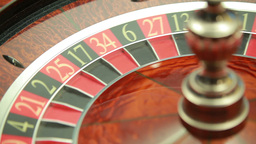 Roulette wheel spinning Stock Video Footage