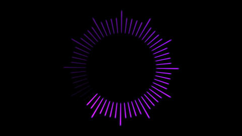 Loading Circle, Clock Illustration - Loop Animation