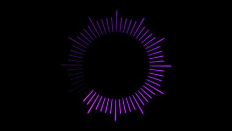 Loading Circle, Clock Illustration - Loop Stock Video Footage