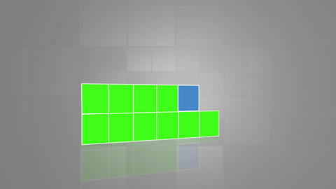 Chroma keys piling and becoming rectangles Animation