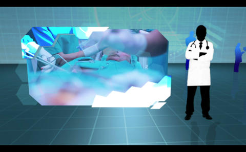 Montage of hospital and patient clips Animation