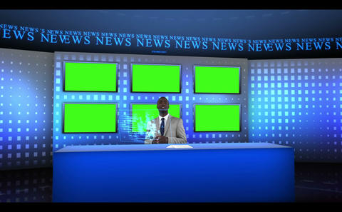Worldwide news being presented Animation