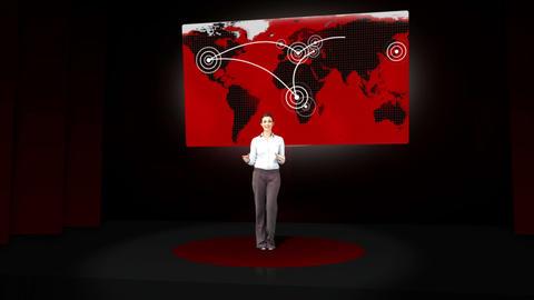 Woman givig presentation on business life Animation