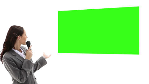 Woman presenting chroma key Animation