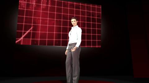 Business woman giving presentation Animation