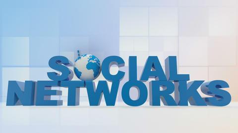 Social networks wtih chroma keys Animation